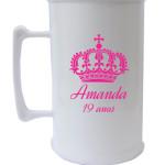 Canecas de acrilico personalizadas 300 ml Amanda