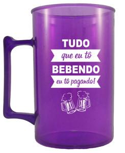 Canecas de acrilico personalizadas 400 ml violeta