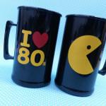 Canecas de acrilico personalizadas I love 80s