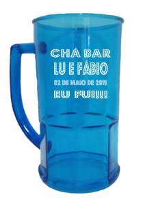 Canecas de acrilico personalizadas Lu e Fábio