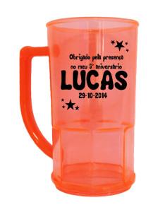 Canecas de chopp personalizadas Lucas