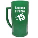 Canecas de chopp personalizadas Amanda e Pedro