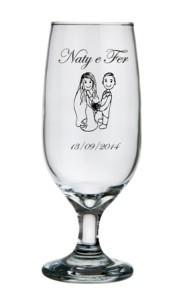 Taça floripa 300 ml Naty e Fer