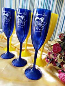 Taças de Acrilico azulPersonalizadas